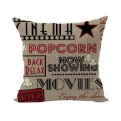 Nunubee Super Soft Pillowcase Cotton Cushion Cover Square Decorative Home Accessories Colourful Words