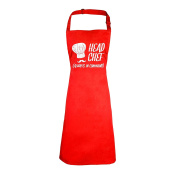 123t Aprons - HEAD CHEF ALWAYS IN COMMAND ... WHITE HAT DESIGN NEW PREMIUM HEAVYWEIGHT APRON - 195 gsm (VARIOUS COLOURS) by 123t Aprons