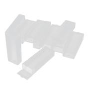 10Pcs Plastic Rectangle Microscope Glass Holder Slide Box for 5 Slides