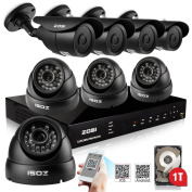 ZOSI CCTV 8CH FULL 960H Video Security System with 8PCS 900TVL Weatherproof/Outdoor Cameras,8CH 960H DVR with1TB Hard Drive,Super Night Vision, Internet & 3G Phone Accessible