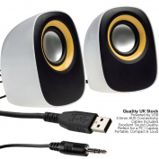 QUALITY 10W PC Laptop Stereo Speaker System-USB/AUX Active Media Tablet Computer