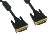 10m DVI Cable - 24k Gold Plated - Video Lead - For HDTV including Plasma, LCD, LED, 3D - Dual Link - 24+1 pins