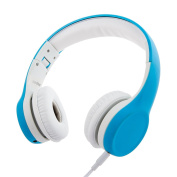Wired Volume Limiting Kids Headphones Foldable Over Ear Headphones with Music Share Port and Detachable Cable for Children Boys Girls