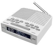 AZATOM Horizon DAB Digital Bedside FM Radio Alarm Clock - Bluetooth - Battery / Mains Powered - White