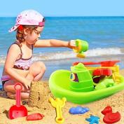 Summer Seaside Beach Toys Baby Water Bath Toy Swimming Tools Toys, Beach Toy Boat Shovel Rake Sand Bath Toys Shuffle Octopus Set Sand Children's Toys