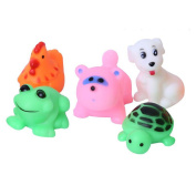 NiGHT LiONS TECH 5 pcs Cute pinch called small animal set baby bathing swimming baby water toys