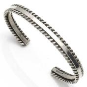 Contemporary Navajo Silver Bracelet by Tahe