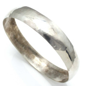 Hand Stamped Silver Bangle by Tahe