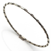 Sterling Silver Bangle By Tahe