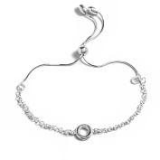 Peermont Jewellers Sterling Silver Open Round Rolo Chain Adjustable Bracelet