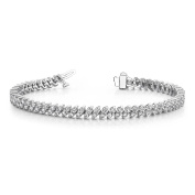 5.00 ct. Round Diamond Double Row Tennis Bracelet