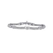 2.00 Carat Diamond Fancy Shaped Link Bracelet 14K White Gold
