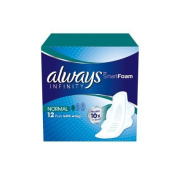 Always Infinity Normal sanitary 12 pads with wings