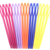 "Mmei 100 pcs 7CM/2 3/4"" Plastic Hand Sewing Yarn Darning Tapestry Needles Lacing Needles for DIY Notions Craft Stitchery"