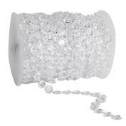 GoFriend 30m Clear Crystal Like Beads by the Roll- Wedding Christmas Home Decorations Light Chandeliers Centrepieces Accessories
