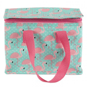 PINK FLAMINGO INSULATED PLASTIC LUNCH BAG