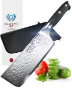 DALSTRONG Nakiri Vegetable Knife - Shogun Series X - VG10 - Hammered Finish - 152mm