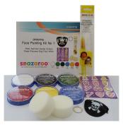 Areema Snazaroo Face Paint Kit 1 - Bright - Party Summer Easter Halloween Pirate Princess