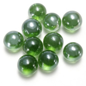 glass marbles - TOOGOO(R)10 Pcs Marbles 16mm glass marbles Knicker glass balls decoration colour nuggets toy green