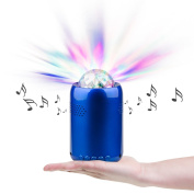 RicoRich Portable Bluetooth Speakers with Coloured LED Light Show Built-in Microphone handsfree Calling, Mini Disco Party Speaker for Family Party Occasions Children Gift