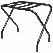 King's Brand Black Metal Folding Luggage Rack With Nylon Belt by King's Brand