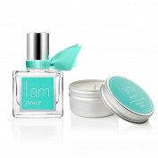 I Am Peace Fragrance Rollerball 10ml & I Am Peace Travel Candle Set
