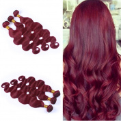 Tony Beauty Hair #99J Brazilian Virgin Human Hair Hundles Body Wave Burgundy Hair Weaves 3Pcs/Lot Wine Red Human Hair Extensions 10-80cm