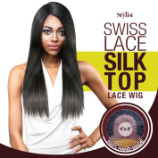 The Stylist Synthetic Lace Front Wig Swiss Lace Silk Top Straight Affair
