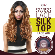The Stylist Synthetic Lace Front Wig Swiss Lace Silk Top Curl-A-Licious