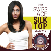The Stylist Synthetic Lace Front Wig Swiss Lace Silk Top Perfect Layers