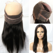 "WOB Hair 8A Grade 100% Brazilian Human Hair 60cm x 10cm X2"" Full Lace Band Around Frontal 150% Density Illusion Natural Hairline 360 Frontal 60cm Natural Colour"