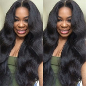 Aliceprincess 150% Density Body Wave Glueless Full Lace Wigs 8A Unprocessed Brazilian Virgin Human Hair Lace Front Wig Middle Part Natural Black