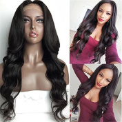 Aliceprincess Full Lace Human Hair Wigs Unprocessed Virgin Brazilian Body Wave Hair Lace Front Wigs 130% Denisity For Black Women Natural Black