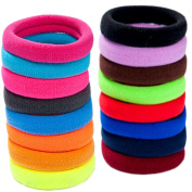 LiveZone 40-Pack High Elastic Colourful Nylon Seamless Stretch Hair Ties Bands Rope Ponytail Holders Headband Scrunchie Hair Accessories for Ladies Women Girls DIY Hairstyle ,Assorted Colour-4.2cm