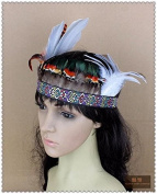 Handmade Indian Feather Fascinator Headband