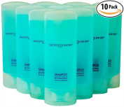 High-End Mini Hotel Shampoo 10 Pack by Institute Swiss. Leak-Free, Travel-Size Value Pack. Super Light & Compact for Extended Travelling, Hiking & Backpacking. Thin, Water-Tight Bottles.