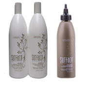 Bundle - 3 Items : Surface Awaken Therapeutic Shampoo & Conditioner 1000ml Duo & Therapeutic Treatment for Thinning Hair, 180ml
