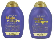 Organix Thick and Full Biotin and Collagen Shampoo & Conditioner Set, 380ml each by Organix