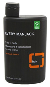 Every Man Jack Shampoo And Conditioner 2-In-1 400ml (2 Pack) by Everyman Products