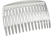 Parcelona French Nice N Simple Clear 2 Pieces Cellulose Acetate Clear 7 Cm Side Hair Comb Combs