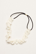 Flower Girl Flower Headband with Crystal Centres Style H516051, Ivory