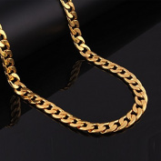 Adecco LLC 18K Gold Plated Men Chain Necklace Figaro Punk Style Jewellery,10mm