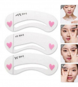 Da.Wa Reusable Eyebrow Shaping Stencils Eyebrows Drawing Template Shaper Tool