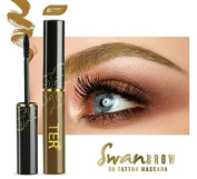 Ter Swan Brow 3D Tattoo Mascara Waterproof, Long Lasting #03 Honey Brown