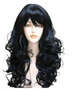 Wigbuy Fashion Full wig Hair Wigs Wavy Curly Natural Black Long Hair for Women