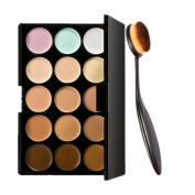 Start 15 Colours Concealer Eye shadow palette kit & Makeup Toothbrush Curve Brush
