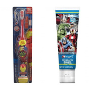 Arm & Hammer Spinbrush Kids Powered Iron Man Marvel Heroes Toothbrush + Crest Pro-Health Stages Marvel Avengers Fruit Burst Flavour Kids Toothpaste 120ml