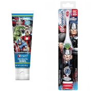 Arm and Hammer Spinbrush Marvel Heroes 'Thor' Powered Toothbrush + Crest Pro-Health Stages Marvel Avengers Fruit Burst Flavour Kids Toothpaste 120ml