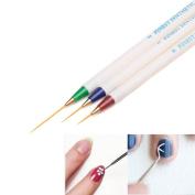 Nail Art Pen TOOPOOT 3PCS Nail Art Dotting Painting Drawing Nail Pull Pen