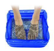 Liteaid Inflatable Massaging Foot Spa, Blue